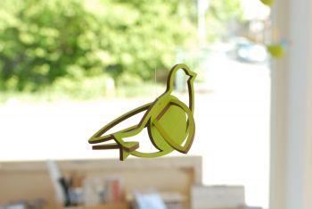 Vogel grün