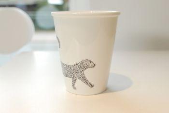 """Becher """"Leopard"""""""