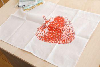 Geschirrtuch Erdbeere