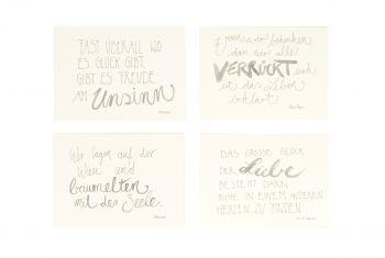 Handgeschriebene Karten im  4er Set