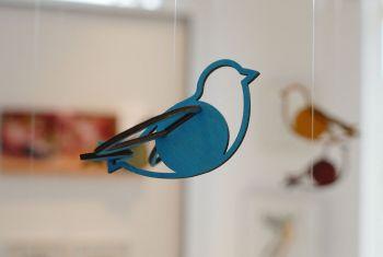 Vogel  leuchtblau