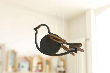 Vogel schwarz