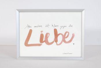 """""""...die Liebe"""" Handschrift gerahmt"""