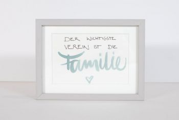 """Familie"" Handschrift gerahmt"