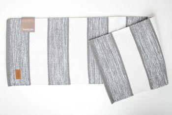 Tischläufer grau weiß gestreift