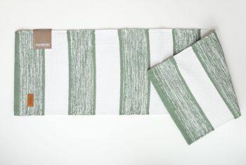 Tischläufer grün weiß gestreift